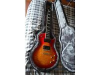 Epiphone Prophecy Les Paul Custom Plus GX Heritage Cherry Sunburst Electric Guitar With Case