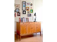 Very rare vintage Gordon Russell for Heal's walnut sideboard. Delivery. Midcentury / Danish style.