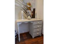 Lovely shabby chic desk/dressing table in cream