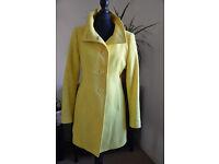 United Colors of Benetton yellow coat size 38