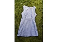 Coast blue jacquard dress - Size 16 - Worn once