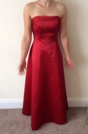 Red bridesmaid or prom dress size 10