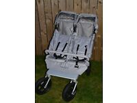 EasyWalkers double buggy with carry cot