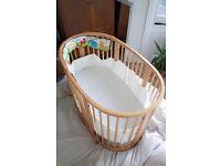 STOKKE sleepi mini crib and cot bed
