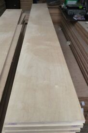 5 pieces of NEW 18mm B/BB Grade Premium Quality Russian Birch Plywood 8ft x 11in (2440mm x 280mm)