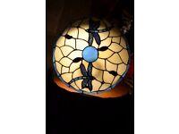 TIFFANY STYLE UPLIGHT LAMP SHADE WITH DRAGONFLY