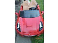 KIDS ELECTRIC FERRARI CAR 12V