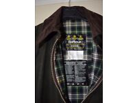 Barbour Border wax coat / jacket - Olive Green C44/112CM - Offers Welcome