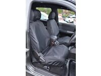 Great Wall Steed 2012+ Black Waterproof Tailored Front & Rear Seat Covers