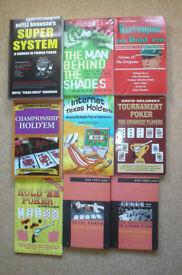 Poker books - 9 in total