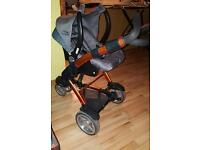 Pushchair ABC with car seat