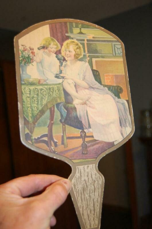 RARE VINTAGE FOREST PARK BRAND DOWNING TAYLOR SPRINGFIELD MA.ADVERTISING FAN