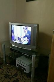 Tv with stand.