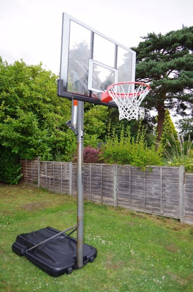 Reebok Portable Basketball Hoop with 52 Inch Shatterproof ...