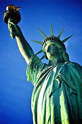 STATUE OF LIBERTY PORTRAIT GLOSSY POSTER PICTURE PHOTO lady torch crown nyc 1797