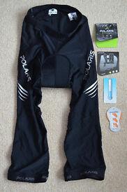 Cycling shorts 3/4 length mens size medium - brand new
