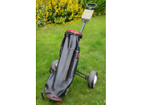 Vintage Winford Leather Golf Bag & MacGregor Folding Trolley