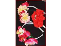 Flowered headbands
