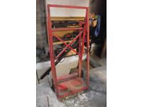Gas bottle trolley for full size oxygen and acetylene bottles