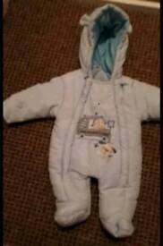 Baby winter suit from new born