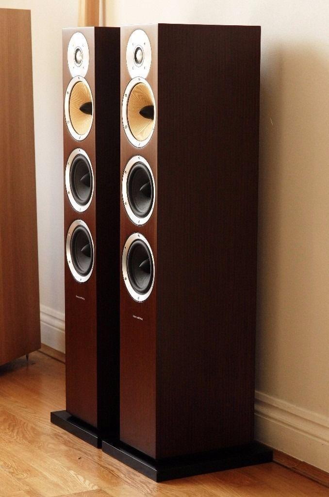 pair of bowers and wilkins b w cm8 floor standing speakers wenge veneer 804 cm9 cm10 cm7 s2 s1. Black Bedroom Furniture Sets. Home Design Ideas