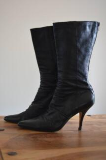 Ladies Black Leather Boots Ashmore Gold Coast City Preview
