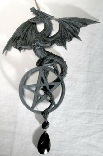 Game of Thrones Room Gothic Wicca Decor Dragon Pentagram Dream Catcher Windchime