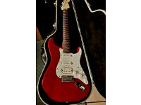 "Fender Stratocaster Deluxe "" Fat Strat "" Electric Guitar,Rare Red Colour,+Fender Hard Case ,Year2001"