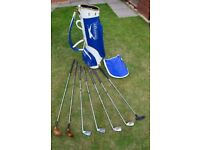 Used Golf bag and 7 clubs.