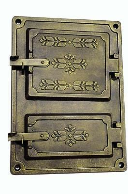 Cast Iron Fire Door Clay Bread Oven Pizza Stove Smoke House Furnace Gold 37x27