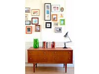 Vintage Danish Teak Dressing Table /Drawers/ Sideboard. Delivery. Midcentury/ Modern.