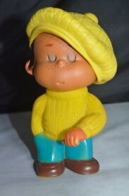 Vintage 1970's Little Boy Golfer Doll Figurine Toy or Display 9.5 inches tall