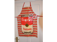 Rare Vintage Andy Wahol Design Cambell's Soup Apron