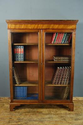 Antique Victorian  and Later Mahogany Bookcase Display Cabinet