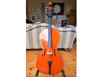 Stringers Symphony Cello, Bow, Soft Case and Stand