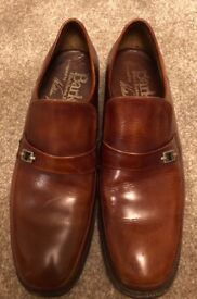 Genuine William Baker brown leather loafers