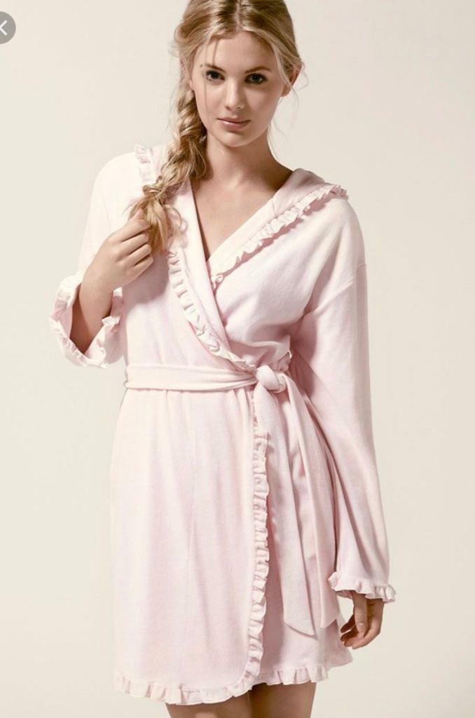 Boux Avenue Candy Pink Frilly Lightweight Robe Dressing Gown | in ...