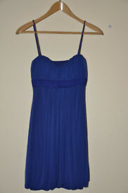 Deep Blue Morgan & Co Prom Evening Dress Size SMALL
