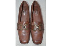 Esprit brown ladies leather shoes (like new)