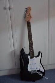 Black and White Full Size Electric Guitar