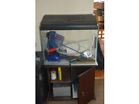 Aquarium Fish Tank, Stand and many Accessories