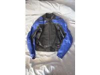 Black/Blue Dainese leathers