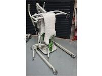 A Nice Liko Sabina II Comfort Mobility hoist Chair Riser Lift, & Charger. New Batts + Sling