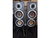 Wharfedale Ventana High Efficiency 95dB Vintage Speakers with Stands