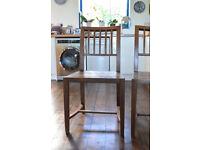 Hardwood dining chairs