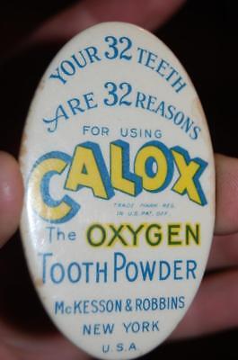 Antique Calox Tooth Teeth Powder Mckesson NY Advertising Celluloid Pocket Mirror