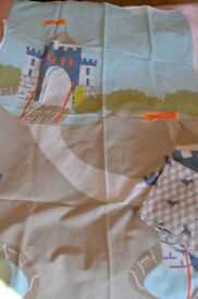 Medieval Castle Theme Toddler Bed Duvet Cover