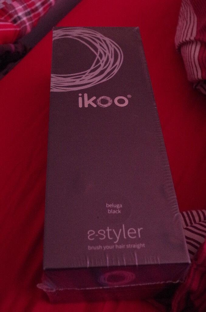 Ikoo E Styler Heated Hair Straightener Brush New Unused Still Wrapped In Plastic