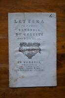 Libro Lettera Padre Gesuiti Scritta Da Penna Imparziale Venezia 1768 -  - ebay.it