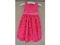 Sequin Embellished Girls party dress age 5 (like new)